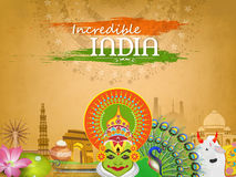 View of Indian Culture for Republic Day celebration. Royalty Free Stock Image