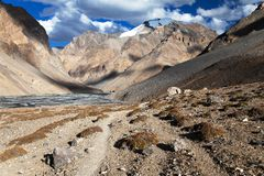 View from Indian himalayas Stock Images