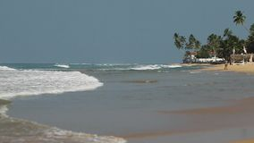View of Indian Ocean from Hikkaduwa, Sri Lanka Sea background. Landscape. Seascape stock video