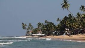 View of Indian Ocean from Hikkaduwa, Sri Lanka Sea background. Landscape. Seascape stock footage