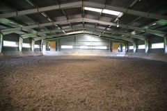 View an indoor riding arena backlight Royalty Free Stock Photos