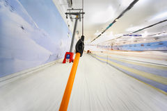 View from indoor ski funicular Royalty Free Stock Images