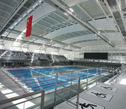 View of an indoor swimming pool Stock Image