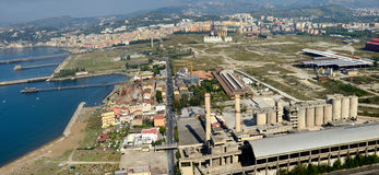 View of industrial area of Bagnoli Naples Royalty Free Stock Photo
