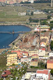View of industrial area of Bagnoli Naples Royalty Free Stock Photography