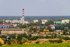 View on the industrial district in Kremenchug city. Ukraine Stock Photo