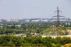 View on the industrial district in Kremenchug city. Ukraine Stock Photos