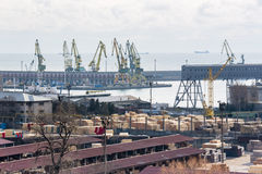View of industrial port Royalty Free Stock Image