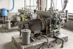 View on Industrial pump Royalty Free Stock Photography