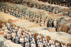 View of infantry of the Terracotta Army, Xi`an, China Stock Photo