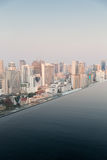 View from infinity edge pool to bangkok city Stock Photography