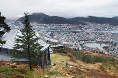 Info point and view point in Bergen, Norway Royalty Free Stock Images