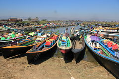 View of Inle Lake in Myanmar Stock Photos