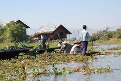 View of Inle Lake in Myanmar Royalty Free Stock Photos