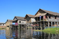 View of Inle Lake in Myanmar Royalty Free Stock Photography