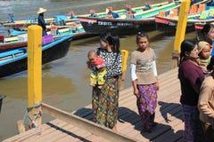 View of Inle Lake in Myanmar Stock Image