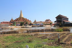 View of Inle Lake in Myanmar Royalty Free Stock Images