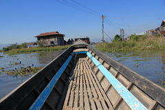 View of Inle Lake in Myanmar Royalty Free Stock Photos