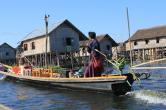 View of Inle Lake in Myanmar Stock Photography