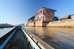 View of Inle Lake view in Myanmar Royalty Free Stock Photography