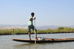 View of Inle Lake view in Myanmar Stock Images