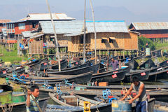 View of Inle Lake view in Myanmar Stock Photos
