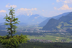 View at the Inn Valley in Austria Stock Images