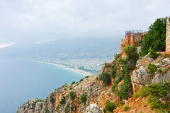 View from the Inner Castle (Ic Kale), Alanya, Turkey Royalty Free Stock Photos