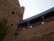 Castle courtyard. Royalty Free Stock Photos