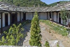 View of  inner courtyard at Glozhene Monastery Royalty Free Stock Photo