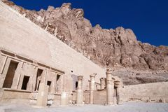 Hatshepsuts Inner Courtyard in Egypt stock images