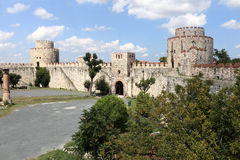 View of inner courtyard of Yedikule Fortress Royalty Free Stock Photos