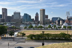 View of Inner Harbor in Baltimore, Maryland Royalty Free Stock Photo