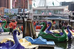 View of Inner Harbor in Baltimore, Maryland stock photos
