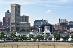 View of Inner Harbor in Baltimore, Maryland Stock Photography