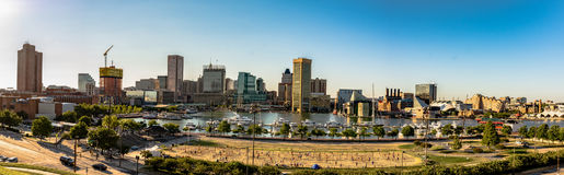 View of Inner Harbor from Federal Hill stock images