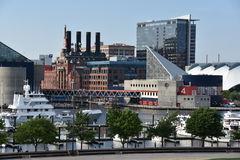 View of Inner Harbor in Baltimore, Maryland stock photo