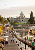 View of Inner Harbour in Victoria Royalty Free Stock Photography