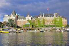 View of Inner Harbour of Victoria. Stock Photo