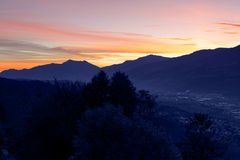 View of Innsbruck at sunrise Stock Photos
