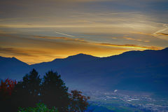View of Innsbruck at sunrise Royalty Free Stock Photography