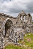 A view inside of the abanoned ruins of Killone Abbey that was built in 1190 and sits on the banks of the Killone Lake, just. Outside Ennis, County Clare nobody stock photography