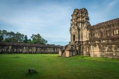 View from inside an Angkor Wat in Siem Reap, Cambodia. Beautiful view from inside an Angkor Wat in Siem Reap, Cambodia stock images