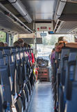 View from inside the bus Royalty Free Stock Photo