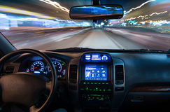 View from inside of car Royalty Free Stock Photography