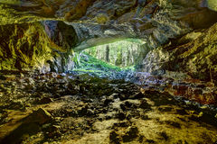 View from the inside of Coiba Mare cave Royalty Free Stock Image