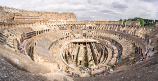 View of the Inside of the Coliseum in Rome Stock Images