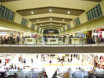 View inside a commercial mall called Robinson's Place Antipolo. ANTIPOLO CITY, PHILIPPINES - JULY 3, 2016: View inside a commercial mall called Robinson's Place royalty free stock photo