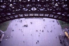 View from inside Eiffel Tower Royalty Free Stock Photography
