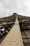 View of the eiffel tower. View from inside the Eiffel Tower in Paris - France stock images